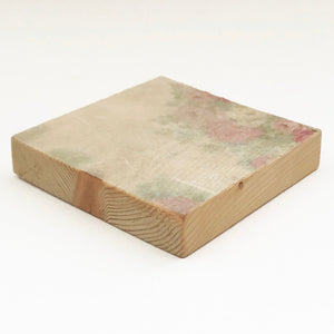 Chunky Floral Wooden Coaster Set