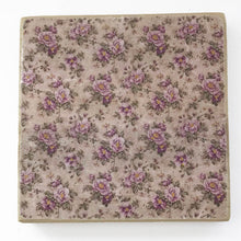 Load image into Gallery viewer, Pink Floral Wood Coaster Set