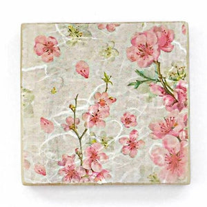Pink Blossom Wooden Coasters