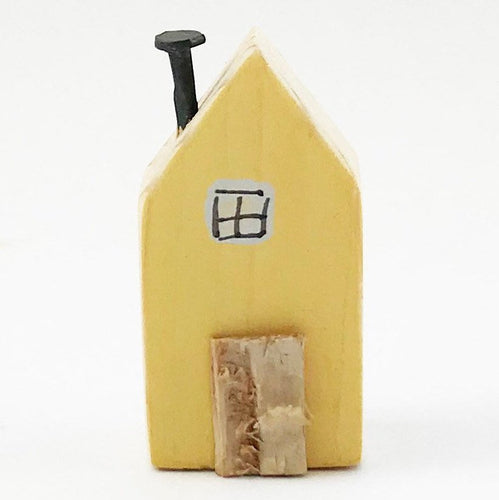 Yellow Tiny House Wood Magnet