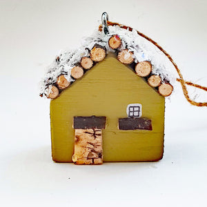 Cabin Ornament Christmas Decoration
