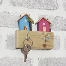 Load image into Gallery viewer, His and Her Key Holder Couple Key Holder Wall Key Hooks - Painted in colours of your choice