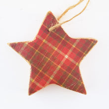 Load image into Gallery viewer, Tartan Christmas Tree Decorations