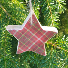 Load image into Gallery viewer, Tartan Christmas Tree Decorations Holiday Decor
