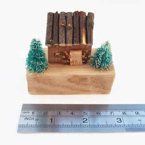 Miniature Wooden Christmas House