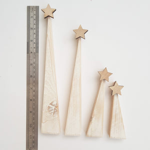 Contemporary Wooden Christmas Trees