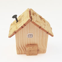 Load image into Gallery viewer, Wooden Tiny House Natural Wood Decor Unique Gifts