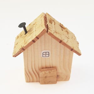 Wooden Tiny House Natural Wood Decor Unique Gifts