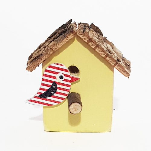 Bird House Magnet Wood Fridge Magnets Yellow Kitchen Accessories Handmade Gifts