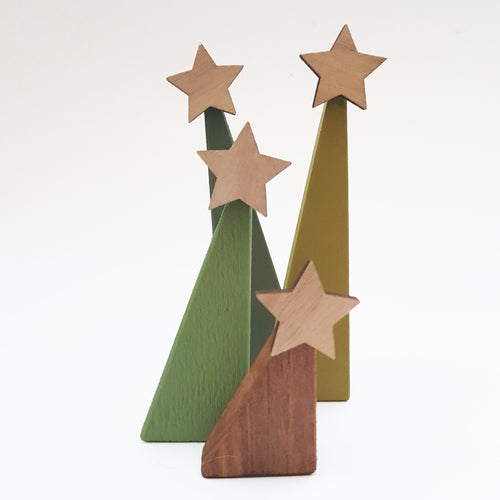 Wooden Christmas Tree Set made from Reclaimed Pallets
