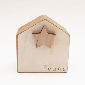 Reclaimed Wood Christmas Word Blocks Set of 3