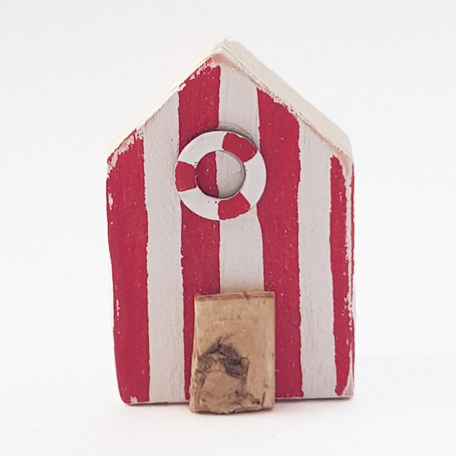 Beach Hut Magnet Coastal Accessories Nautical Decor - Available in a colour of your choice