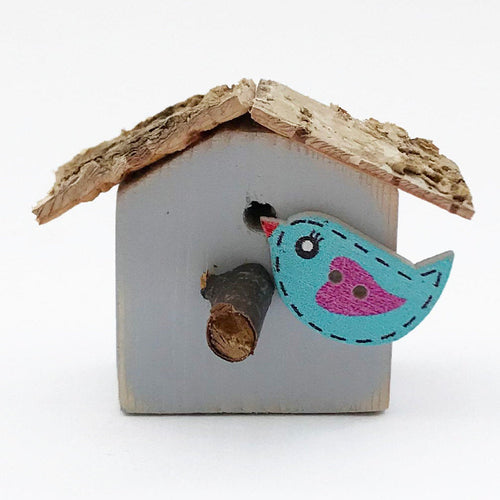 Small Fridge Magnet Bird House Magnets Wood