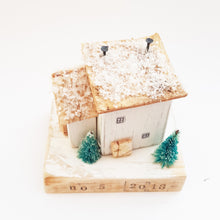 Load image into Gallery viewer, Wooden House Personalised Christmas Decoration Unique Christmas Gifts New Home Christmas Ornament