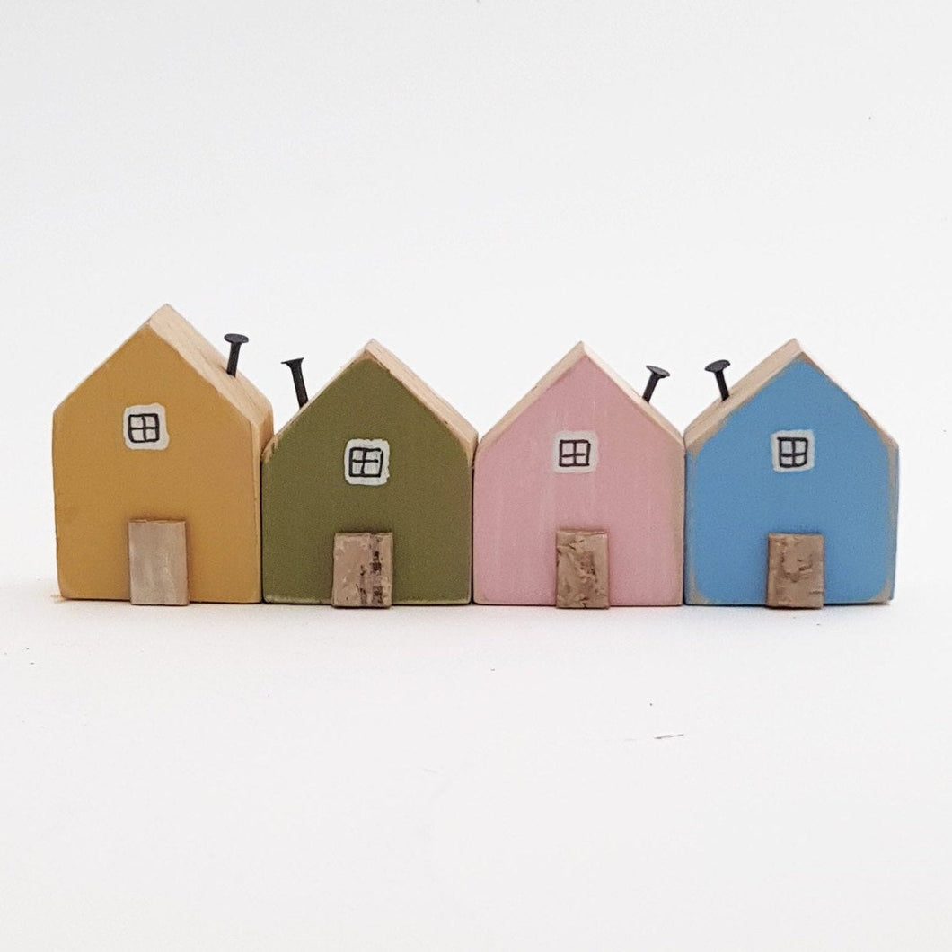 Miniature Houses Wood Wooden Houses Ornaments Tiny Houses Decor