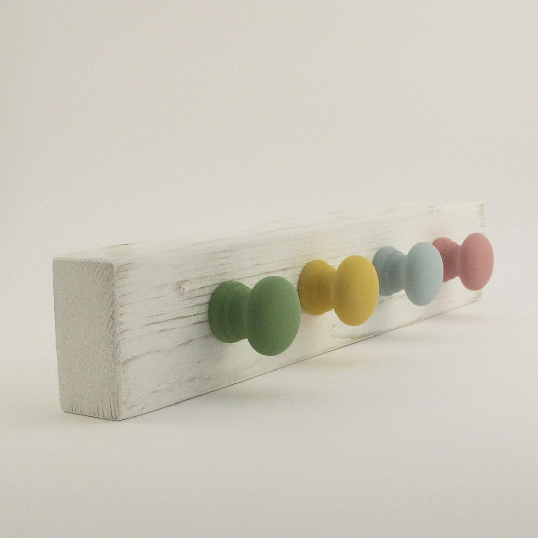 Wooden Peg Hooks Wall Storage