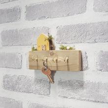 Load image into Gallery viewer, Key Holder for Wall with Wooden House and Garden