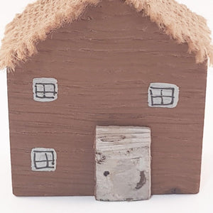 Miniature Wooden Cottage Wood Gift