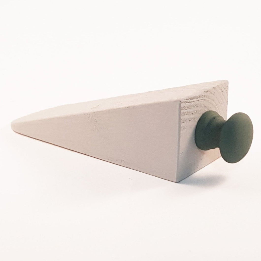 Green and Beige Door Stop