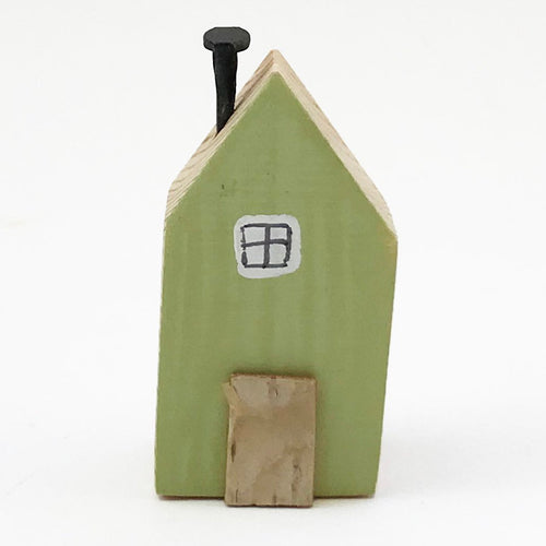 Wooden Magnet Green Miniature House Refrigerator Decals