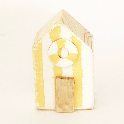 Fridge Magnets Beach Huts Yellow Kitchen Decor Nautical Gifts