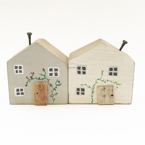 Wooden Cottages Wooden Gifts Wood Decor Ornaments for Living Room