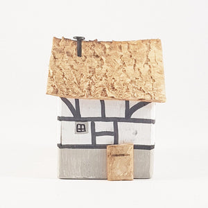 Mini Wooden House Medieval Ornaments