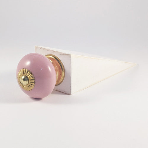 Wooden Door Stop Pink Door Stopper White Door Wedge Home Decor Accessories