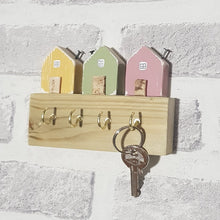 Load image into Gallery viewer, Key Holder with Tiny Houses Key Storage