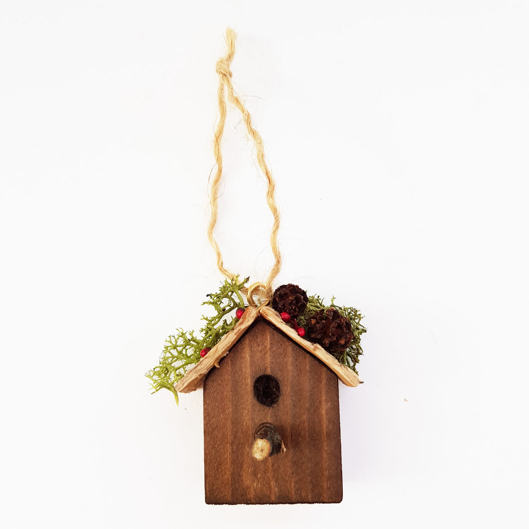 Rustic Bird House Christmas Miniatures Christmas Tree Decoration