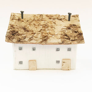 Decorative Wood Country Houses Mini Wooden Cottages Wooden House Ornaments Shelf Decor - Painted in a colour of your choice