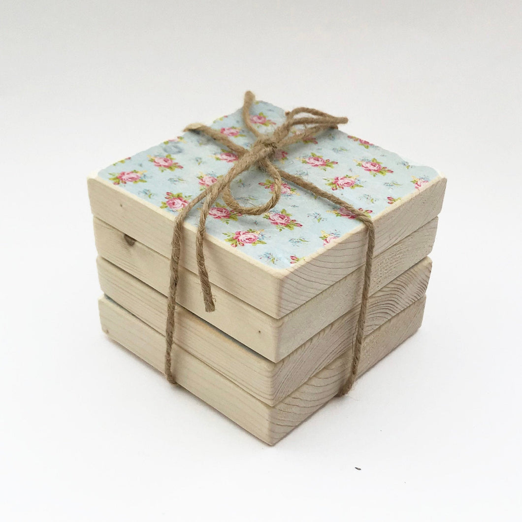 Decoupage Coasters Coaster Set Wood Home Gifts