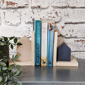 Wood Bookends Wooden Home Decor