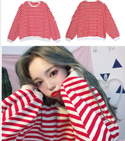 Loose Striped Long sleeve Tees