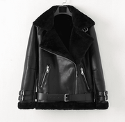 Suede or leather motocycle jacket for men (several options)