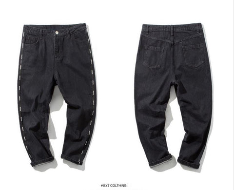Straight Black Denim Pants