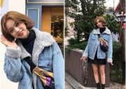 Winter new Korean women's jacket thick loose denim cotton clothing