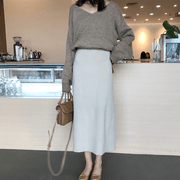 Autumn and winter High waist Skirt