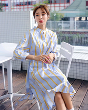 Jun Ji-hyun Autumn new women's long dress