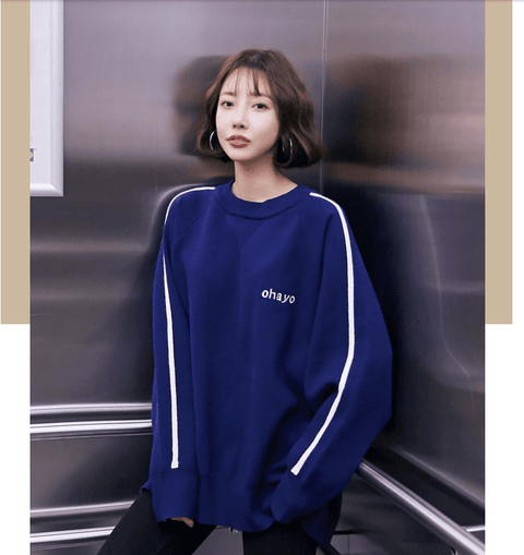 Section pullover female sweater
