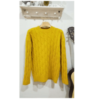Autumn and winter sweater twisted donuts pattern women - shine