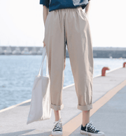 Wild loose retro overalls casual nine pants
