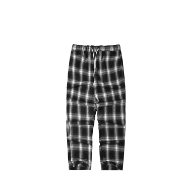 Grid nine pants men and women casual pants