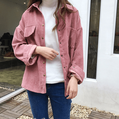 2018 new corduroy shirt jacket - shine