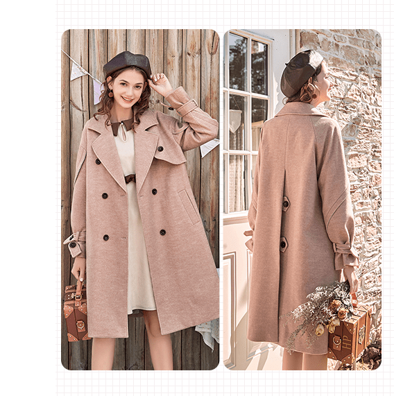 Winter 2018 F/W woolen coat for women