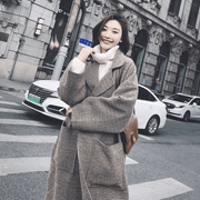 Woolen coat female long section 2018 new autumn and winter Korean students Sen over the knees coat