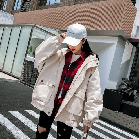 spring and autumn Baseball Jacket college student style - shine
