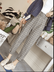 British style nine pants trousers casual pants high waist - shine