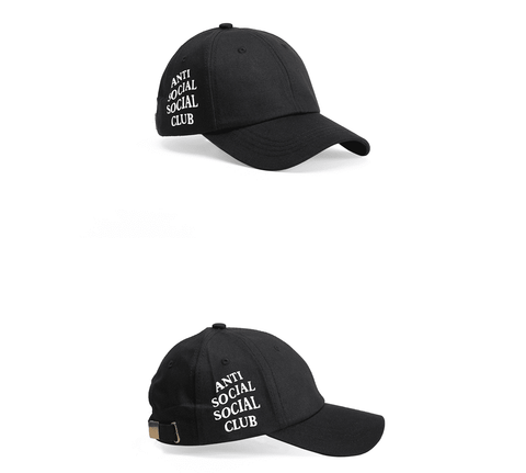 Cap spring summer black hipster man wild personality embroidery baseball cap male
