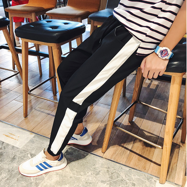 A/W Fleece-inside Long casual style pants